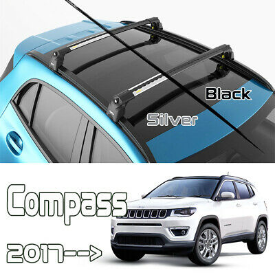 jeep compass roof rack crossbars fits to for flush roof rails black color ebay