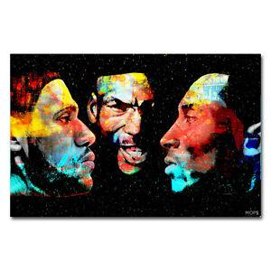 details about michael jordan kobe bryant lebron james silk poster 12x18 inch