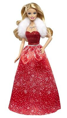 2014 Happy Holiday Wishes Barbie CCP45 Red Dress In Hand EBay