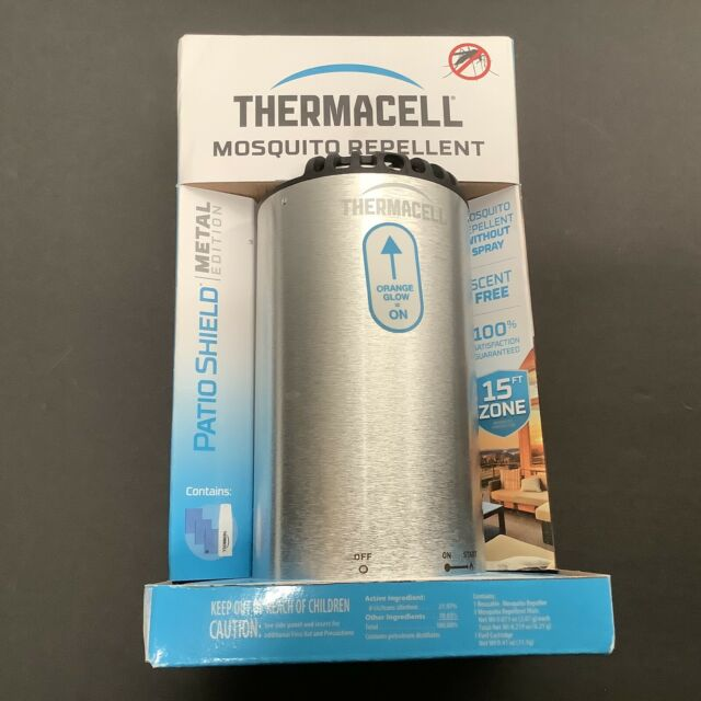 thermacell patio shield mosquito repeller brushed n ps mn 843654003849