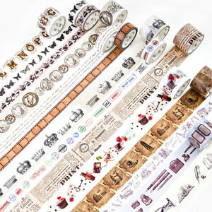 Retro Ancient Times Washi Masking Tape Home Decor Paper Ribbon Craft Package DIY