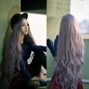 100cm long women s lady curly wavy hair full wigs ita cosplay party anime wig ebay