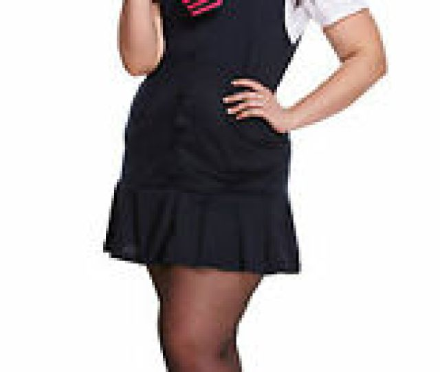 Image Is Loading Womens Ladies Plus Size Girls Sexy School Girl