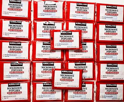 kirkland signature microwave popcorn movie theater butter 22 bags 3 3 oz each ebay