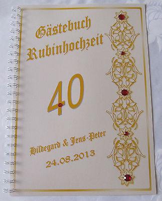 40 Hochzeitstag Geschenke Mag Fur Liebhaber Metallbild Von