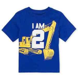 New 2nd Birthday Excavator Truck Baby Boys Shirt 2t 3t Ss 2 Years Gift Party Ebay