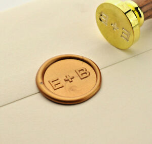 Details About Two Initials Wax Stamp Wedding Invitation Seal Custom Made Sealing