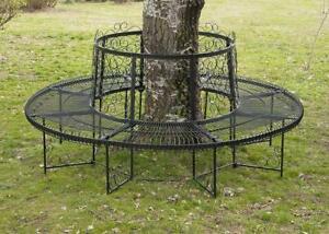 details sur banc rond xxl d 200 cm en metal banque banc circulaire banc de jardin fer forge