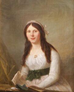 details sur jacques wilbault tableau portrait femme louis xvi revolution directoire ardennes