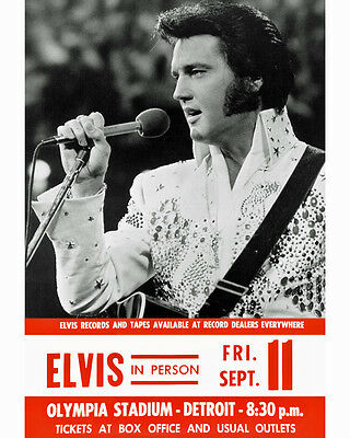elvis presley concert poster detroit olympia 1970 8x10 colo photo ebay