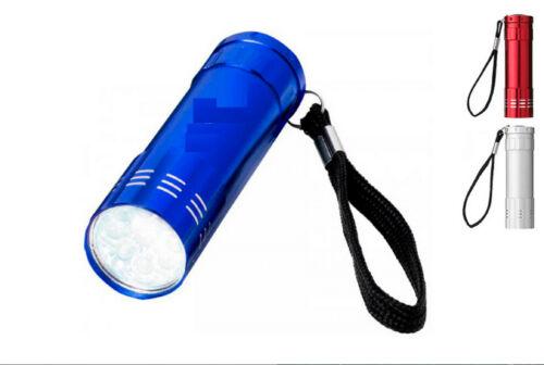 sporting goods lampe torche extra forte puissante de poche 9 led laniere 8 5x 2 5cm aluminium com