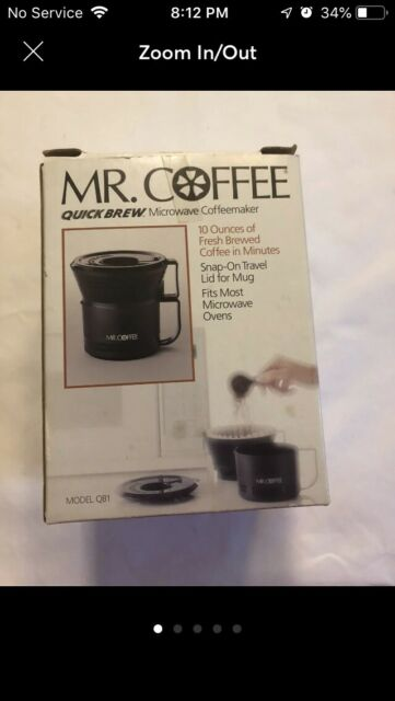 Vintage Mr Coffee Quick Brew Qb1 Microwave Coffeemaker 10 Oz