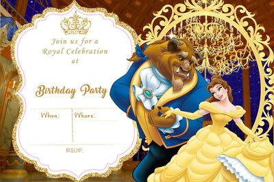 disney beauty and the beast princess belle birthday party invites bb1 ebay