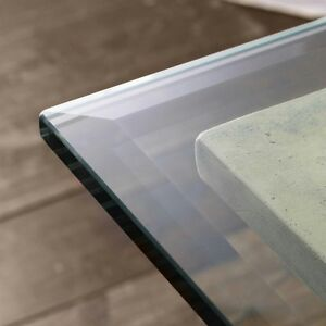 details about 48x84 rectangle clear tempered glass table top 1 2 bevel edge