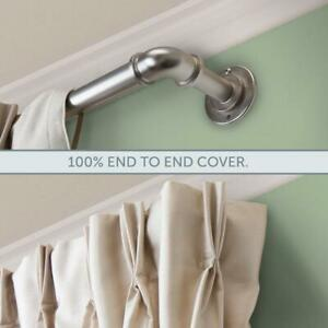 details about better homes gardens 1 industrial pipe drapery curtain rod nickel 42 to 120