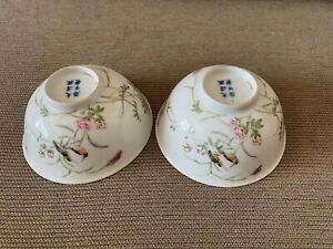 Chinese antique porcelain famille rose flowers and Birds bowls