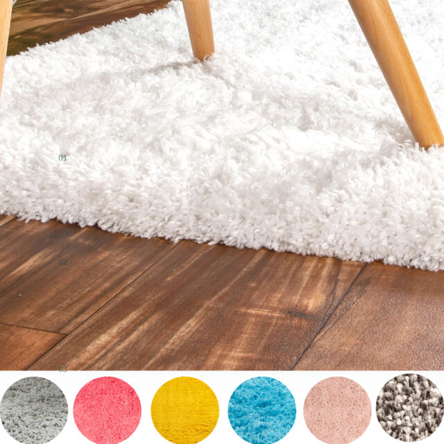 super soft solid shag rug washable skid slip resistant area rugs 2x3 to 8x10