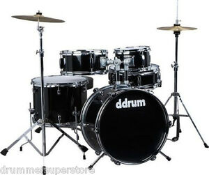 Ddrum D1 Junior Drum Kit 5pc Drum Set with Cymbals Throne and     Image is loading Ddrum D1 Junior Drum Kit 5pc Drum Set
