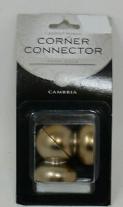 soft brass for cambria 1 1 8 curtain rods