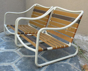 details about vintage brown jordan patio chairs low lounge sand refinishing included in price