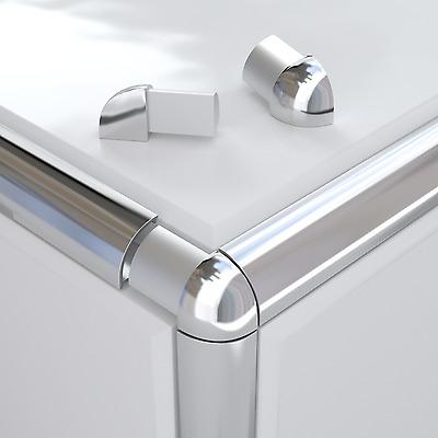 vroma round quadrant tile trim external silver coloured corner piece singles ebay