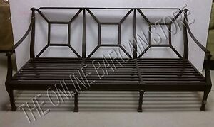 details about frontgate cast aluminum metal outdoor patio sofa chair carlisle couch frame