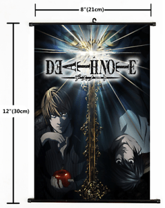 Death Note Japanese Hot Comic Anime Art Scroll Silk Poster Wall Decoration 01