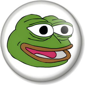 Pepe The Frog Happy Face 25mm 1 Pin Button Badge Internet Meme