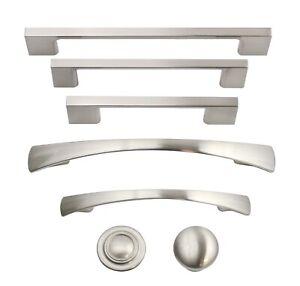 Brushed Satin Nickel Kitchen Cabinet Hardware Knobs Pulls Handles Hardware Ebay