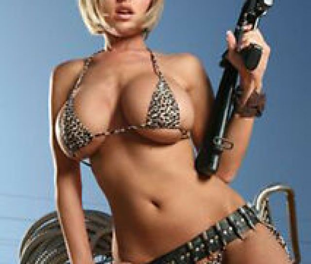 Image Is Loading Hot Sexy Girl And Guns Photo Fridge Magnet