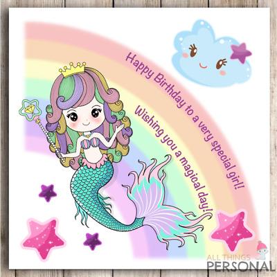 Mermaid Birthday Card Daughter Sister Granddaughter Niece 1st 2nd 3rd 4th 5th Ebay