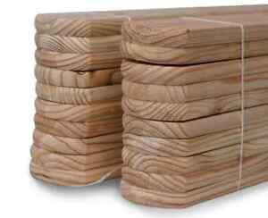 details sur fr 20 planches pour clotures en bois meleze de siberie de classe 3 110x9x2 cm