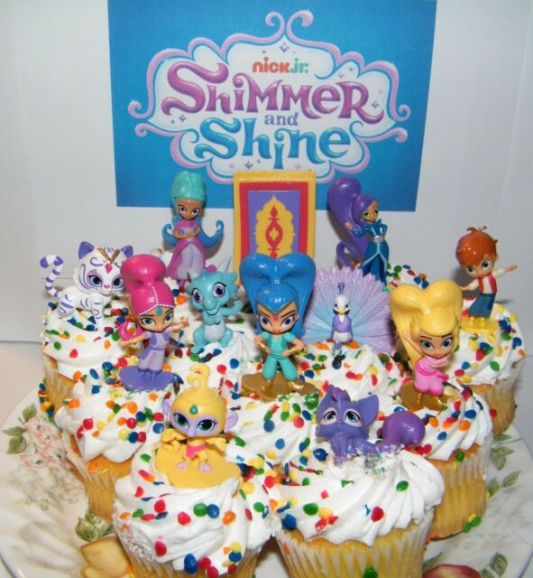 Cake Toppers Home Garden Shimmer And Shine Cake Toppers Set Of 17 Fun Figures And Genie Gems Nick Jr