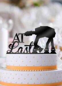 At Last ATAT Imperial Walker Star Wars Wedding Cake Topper   eBay Image is loading At Last ATAT Imperial Walker Star Wars Wedding