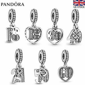 Dangle Genuine Pandora Charm Love Anniversary Pendant Birthday With Gift Box Bag Ebay