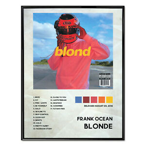 details about frank ocean album poster print music wall art blonde premium print 18 x 24
