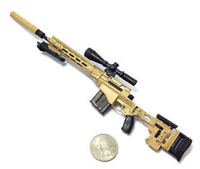 Image Is Loading 1 6 Scale Custom Desert Msr Sniper Rifle