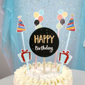 Purearte Cute Happy Birthday Cake Topper For Kids And Adult Party Ebay