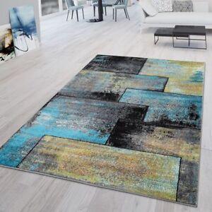https www ebay fr itm tapis moderne salon aspect industriel poils ras original noir jaune bleu 292818239715