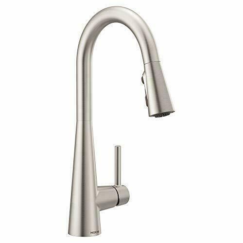 moen 7864srs sleek one handle high arc pulldown kitchen faucet for sale online ebay