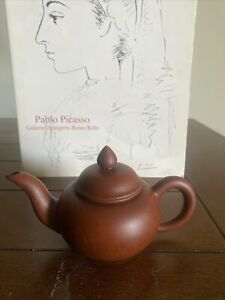Chinese Zisha Clay Teapot w Chinese Foreign Department Official Gift Stamp. Rare