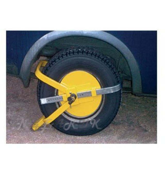 large full face wheel clamp lock padlock car van caravan security