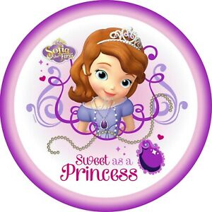 Sofia The First 7 Inch Edible Image Cake Cupcake Toppers Birthday Party Ebay