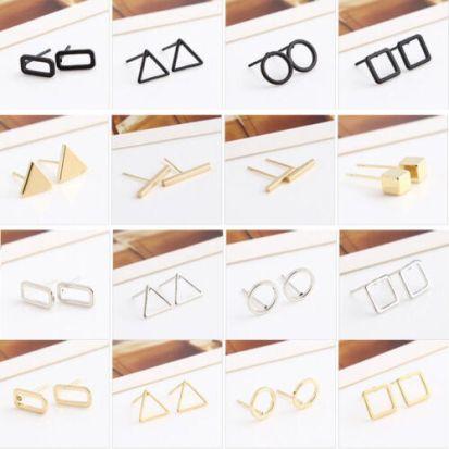Hot-Fashion-Women-Earring-Hollow-Geometric-Bar-Circle-Ear-Stud-Earrings-Jewelry