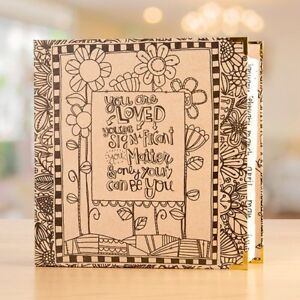 ADORNit Coloring Planner Documented Faith Art Planner Adult Colouring folder