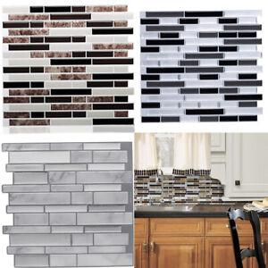 details about 3d mosaic decorative panel sticker bathroom kitchen wall floor tiles decals home