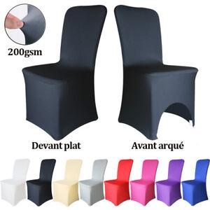 details sur housse de chaise salle a manger spandex blanc elastique mariage fete