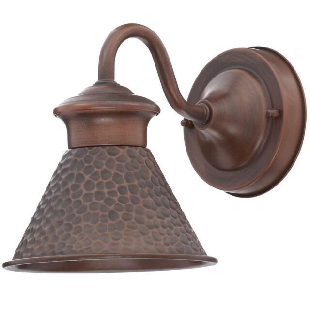 home decorators collection essen 1 light antique copper outdoor wall lantern