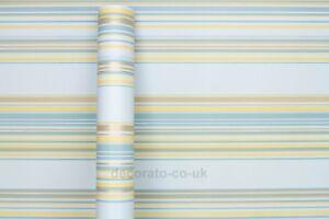 Dettagli Su A Righe Verticali Blu Adesivo Posteriore Pellicola Vinile Pvc Carta Da Parati