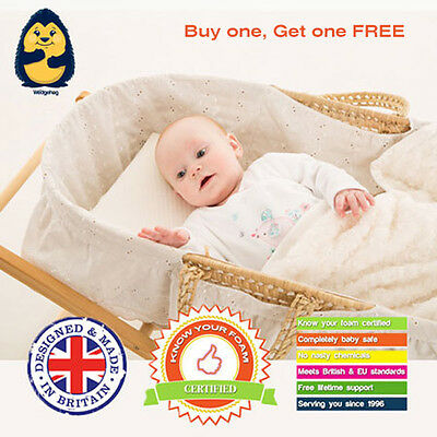 2 x 28cm moses basket wedgehog reflux wedge pillow with free bundled guide 797734073485 ebay